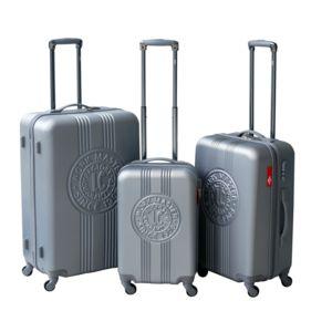 LEE COOPER - Set de 3 valises rigides PATCH - ABS - Argent