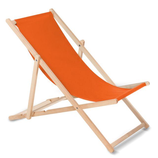 Greenblue Chaise longue bain de soleil pliante orange