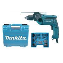 Makita - Perceuse a percussion Hp1641X100 680 W et coffret de transport