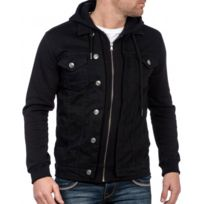 BLZ Jeans - Veste sweat en jeans noir