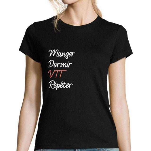CLOSSET Vtt | T-shirt Femme Sport Humour Drôle et Sympa pour Toutes Les Sportives Passionnées - col Rond Xxl