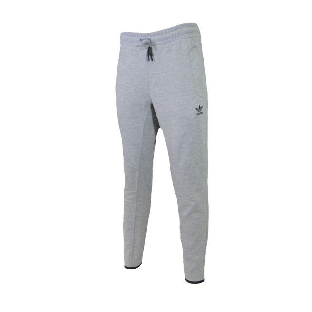 pantalon survetement homme adidas gris