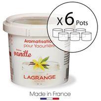 Lagrange - Lot de 6 pots d'aromatisation pour yaourts Vanille
