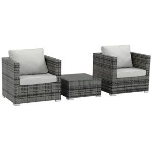 habitat et jardin salon de jardin r sine tress e malibu florida gris nc pas cher achat. Black Bedroom Furniture Sets. Home Design Ideas