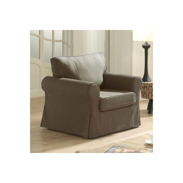 Canapé fauteuil fixes chocolat Jaipur