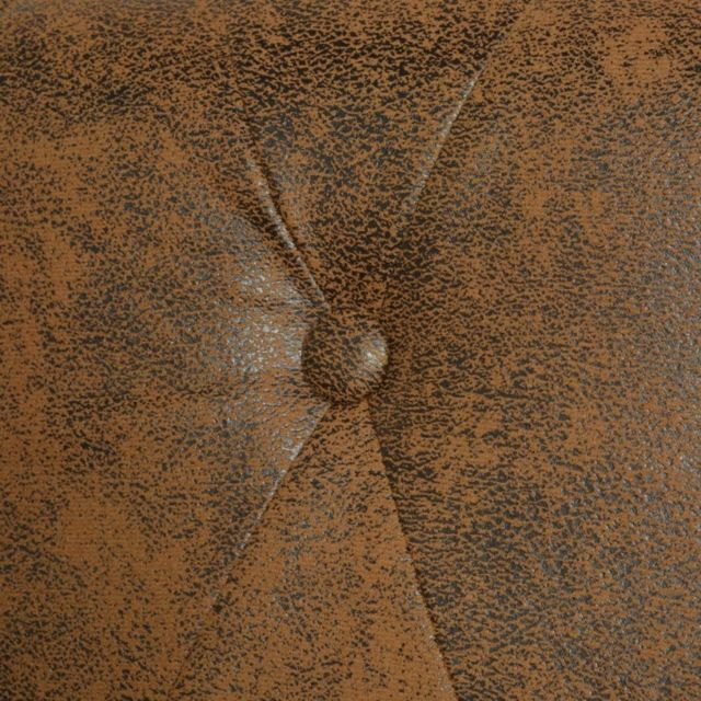 Icaverne - Canapés ensemble Canapé Chesterfield 2 places Cuir artificiel Marron