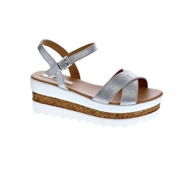 diversifié dans l'emballage 50% de réduction mode Mustang - Chaussures Femme Sandales modele Dila Argent - pas ...