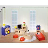 Goki - Maison de poupées : Mobilier grande salle de séjour