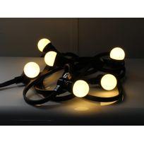 Leblanc Illumination - Guirlande extérieure guinguette 10 Led B22 longueur 10m câble noir Festive