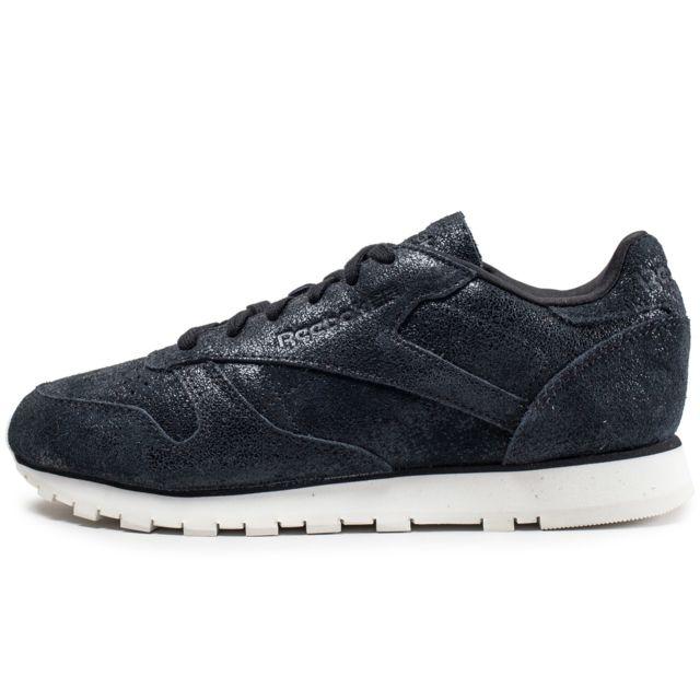 hot sales d2ea0 2c5ce Reebok - Classic Leather Shimmer Noire