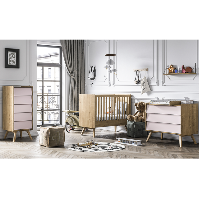 Vox Chambre Complete Lit Bebe 60x120 Commode A Langer