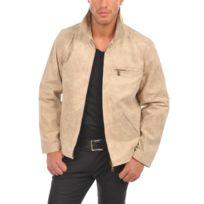 Arturo - Blouson cuir Couleur - beige, Taille Homme - S