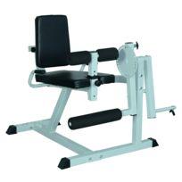 HOMCOM - Appareil de Fitness musculation des jambes flexion extension dossier et résistance réglable 113L x 95l x 99H cm gris et noir neuf 36