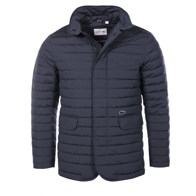 bd6181ebc3 Lacoste - Lacoste Homme - Doudoune veste matelassée en taffetas bleu marine  Bh9634