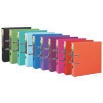 Exacompta - Classeur à levier plastifié Prem Touch A4+ dos 8 cm couleurs assorties - Lot de 10