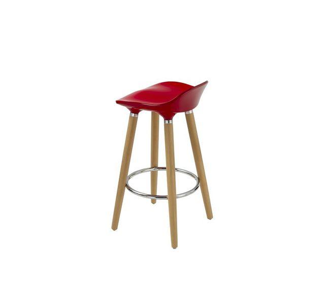 CHLOE DESIGN Tabouret design GABOR - Rouge