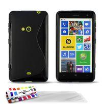 """Muzzano - Coque Souple Ultra-Slim """"Le S"""" Premium Noir pour Nokia Lumia 625 + 3 Films de protection ?cran"""