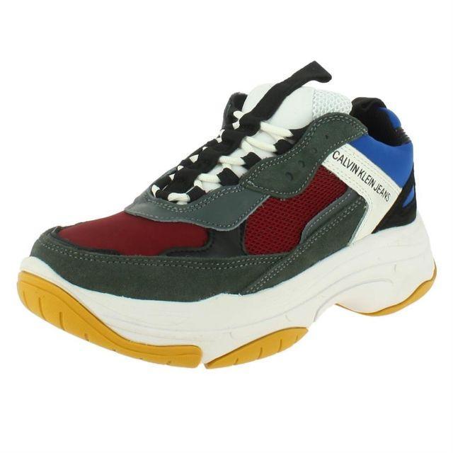 74619a2cebc Calvin Klein - Marvin homme jeans s1771 Multicolore - pas cher Achat   Vente  Baskets homme - RueDuCommerce