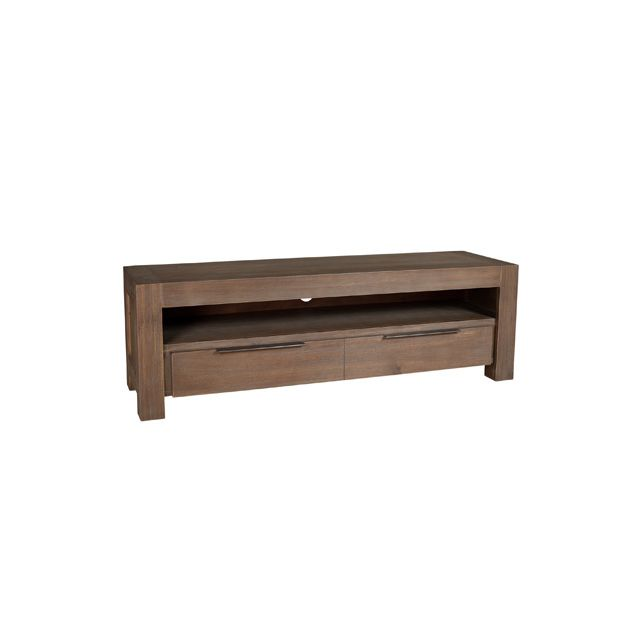 meuble tv 1 tiroir acacia pas cher achat vente meuble tv rueducommerce. Black Bedroom Furniture Sets. Home Design Ideas