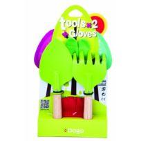 Dogo - 40921 - Outillage De Jardin Pour Enfant - Gants + 2 Outils Enfant Grenouille