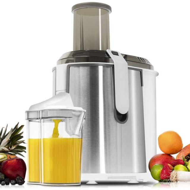 Cecotec Centrifugeuse électrique avec réservoir de 2L pour Fruits et Légumes gris blanc