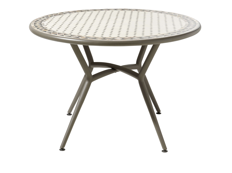 ... Et Les Carreaux De Céramique Posés à La Main Rendent Chaque Table  Unique. En Acier Galvanisé, Elles Résisteront Dans Le Temps à Lu0027oxydation.