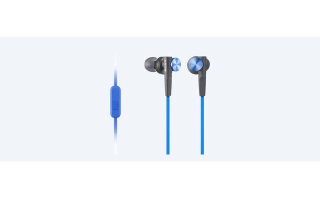 SONY Ecouteurs avec télécommande intra-auriculaire MDR XB50APR Bleu Ecouteurs intra-auriculaires EXTRA BASS XB50AP : Smartphone compatible avec télécommande / microphone sur cordon, Technologie X-Bass pour un son digne d'une discothèq