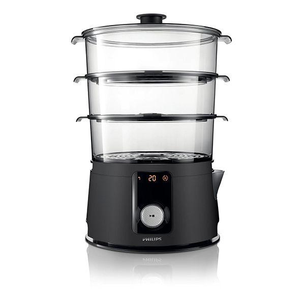 PHILIPS cuiseur vapeur 3 paniers 900w - hd9150/91