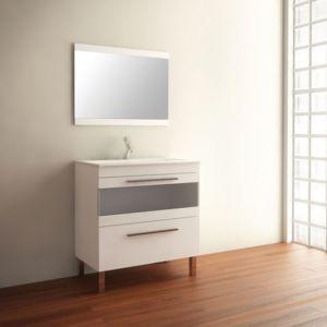 Mennza ensemble de salle de bain cala meuble blanc 60 cm for Ensemble meuble salle de bain solde