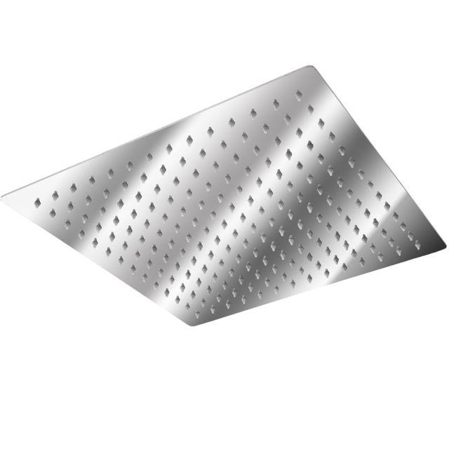 Pommeau de douche en chrome ultra fin carr/é 40 cm x 40 cm