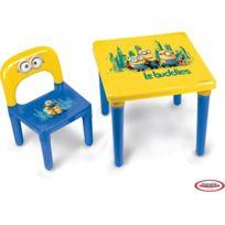 LES MINIONS - Table avec 1 chaise enfant HMIN005