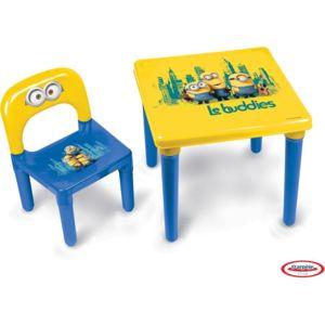 les minions table avec 1 chaise enfant hmin005 pas cher achat vente dessin et peinture. Black Bedroom Furniture Sets. Home Design Ideas