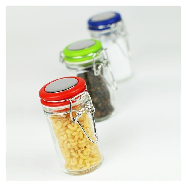 MAISON FUTEE 3 Mini bocaux avec couvercles de couleur