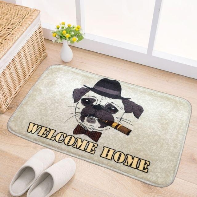 wewoo tapis porte chat et chien motif flanelle rectangulaire salle de bains salon chambre anti. Black Bedroom Furniture Sets. Home Design Ideas