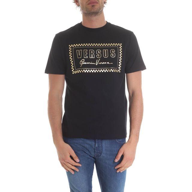 Versus By Versace Versus Versace Homme Bu90713BJ10388B1008 Noir Coton T-shirt