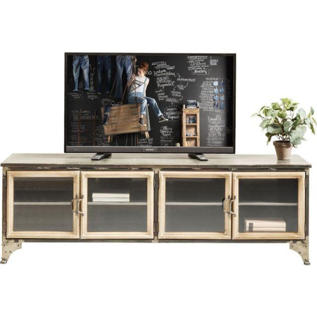karedesign meuble tv kontor m tal kare design gris pas cher achat vente meubles tv hi fi. Black Bedroom Furniture Sets. Home Design Ideas