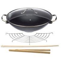 BEKA - wok en fonte 30 cm avec couvercle - 14300734