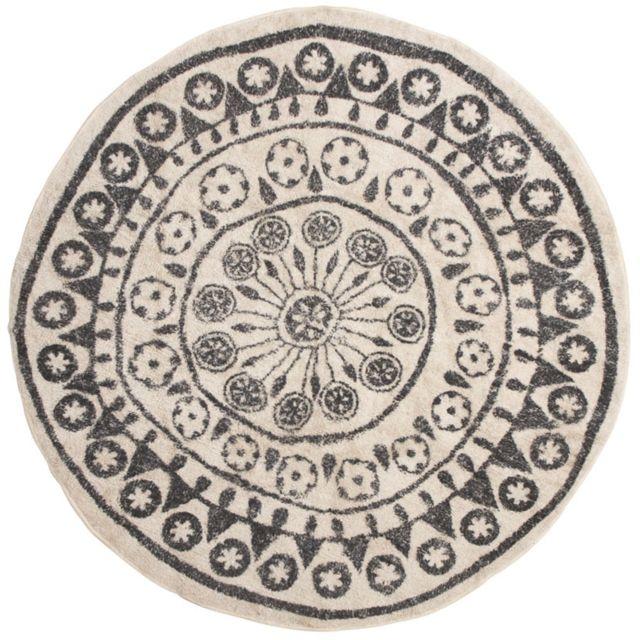 AUBRY GASPARD - Tapis coton rond style berbère Multicolore