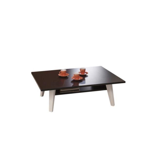 Table basse Malko Blanc/Noir