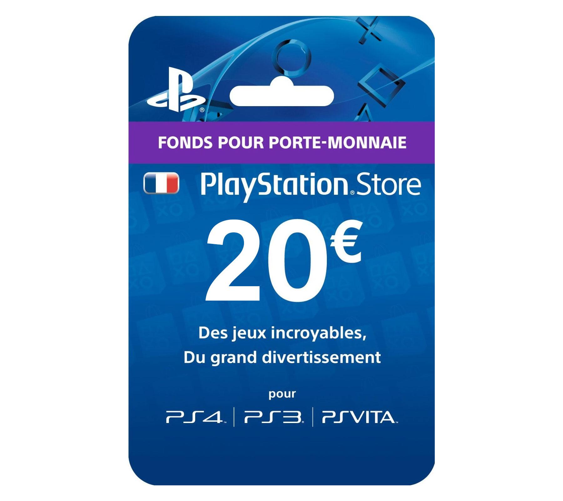 en ligne à la vente factory arrive Playstation Network Live Card 20 € à Prix Carrefour