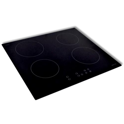 Rocambolesk Superbe Table de cuisson induction encastrable 4 foyers avec verre Schott Neuf