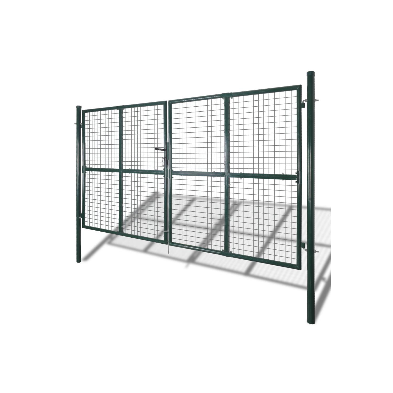 Rocambolesk - Superbe Portail double pour clôture en acier laqué neuf