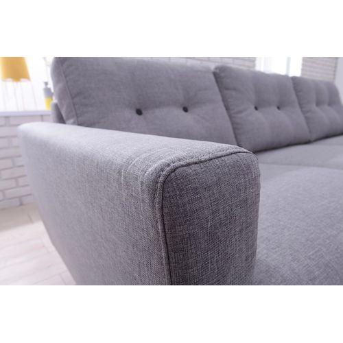 bobochic canap d 39 angle gauche 4 places tissu gris clair oslo achat vente canap s tissu pas. Black Bedroom Furniture Sets. Home Design Ideas