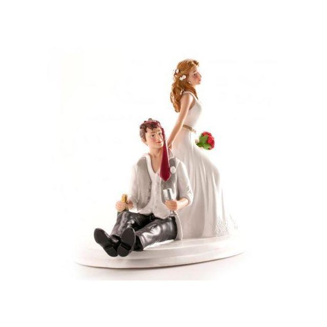 Figurine Couple Marie Emeche Humour Décoration Gateau Mariage 856