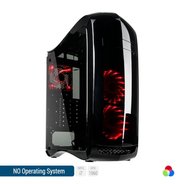 SEDATECH PC Gamer, Intel i7, GTX1060, 1To HDD, 8 Go RAM, sans OS. Ref: UCM6108I1