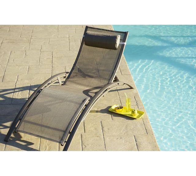 soldes dcb garden bain de soleil en textil ne cappuccino. Black Bedroom Furniture Sets. Home Design Ideas