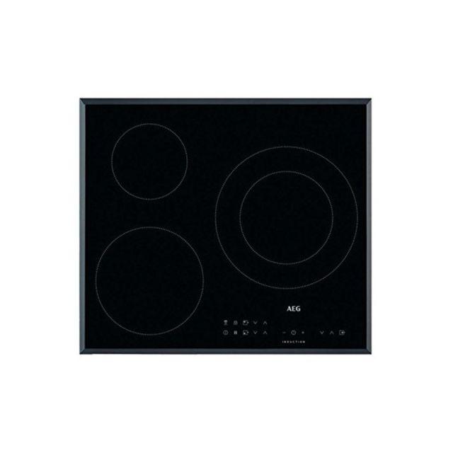 Aeg Plaque à Induction Ikb63302FB 60 cm Noir 3 zones de cuisson