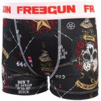 Freegun - Sous vêtement boxer Gun blanc/org boxer jr Noir 20467