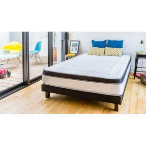 hbedding ensemble matelas m moire sommier 90x190 suite. Black Bedroom Furniture Sets. Home Design Ideas