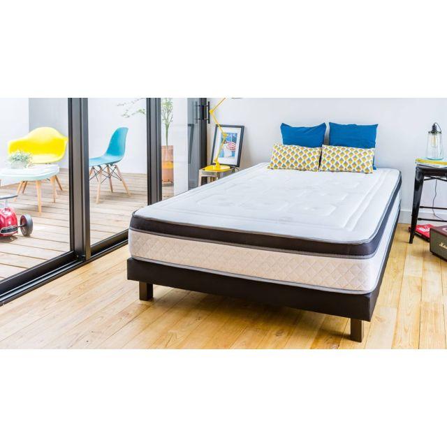 hbedding ensemble matelas m moire 180x200 2 sommiers 90x200 suite royale mousse haute. Black Bedroom Furniture Sets. Home Design Ideas